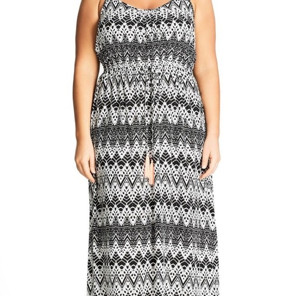 411fb5075f9f City Chic Dresses & Skirts - City Chic plus size black & white maxi dress